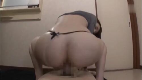背面騎乗位の尻画像